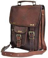 Genuine distressed leather shoulder bag satchel for men messenger bag ip... - $42.57