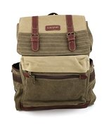 Trendy Apparel Shop Two-Tone Canvas Back Pack with Padded Shoulder Strap... - $64.99