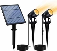 LED Solar Powered Landscape Outdoor Spotlights, Set of 2