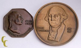 Lot of 2 George Washington Medals 1st President, Bicentennial of Birth - $25.84
