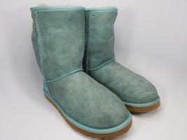 UGG Australia Classic Short Sheepskin Green Boots Size 8 M (B) EU 39  Model 5825