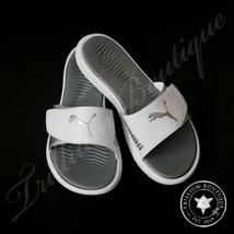 Puma Women's Surfcat White-Puma Silver Slides, 7 NWT Spring Summer - $69.27