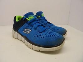 Skechers Kid's Equalizer 2.0-Post Season Sneaker Royal/Blue Size 3.5Y - $18.99