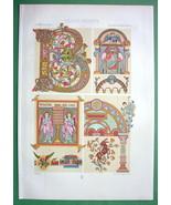 CELTIC Byzantine Ornaments Gospel - COLOR Litho Print by Racinet - $30.60