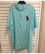 Polo Ralph Lauren BIG PONY Polo Shirt Mesh  - Size XXL Aqua - $46.51
