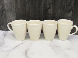 """Set of 4 Wedgwood Windsor Ribbed 4"""" Cup Mugs England - $39.60"""