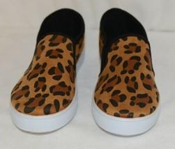 Soho Girls Jerry 2 Leopard Flat Rubber Sole Slip On Comfort Sneakers Size 8 Half image 2