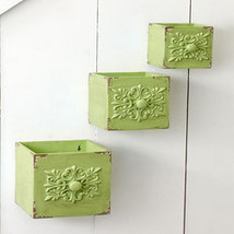 Set of 3 Inspired Wall Boxes- Sage Green - $25.42