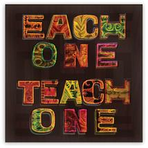 EACH ONE TEACH ONE Metal Fridge Magnet, 2in Square - African American Pr... - $3.95