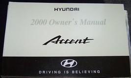 2000 hyundai accent owners manual new original - $10.99