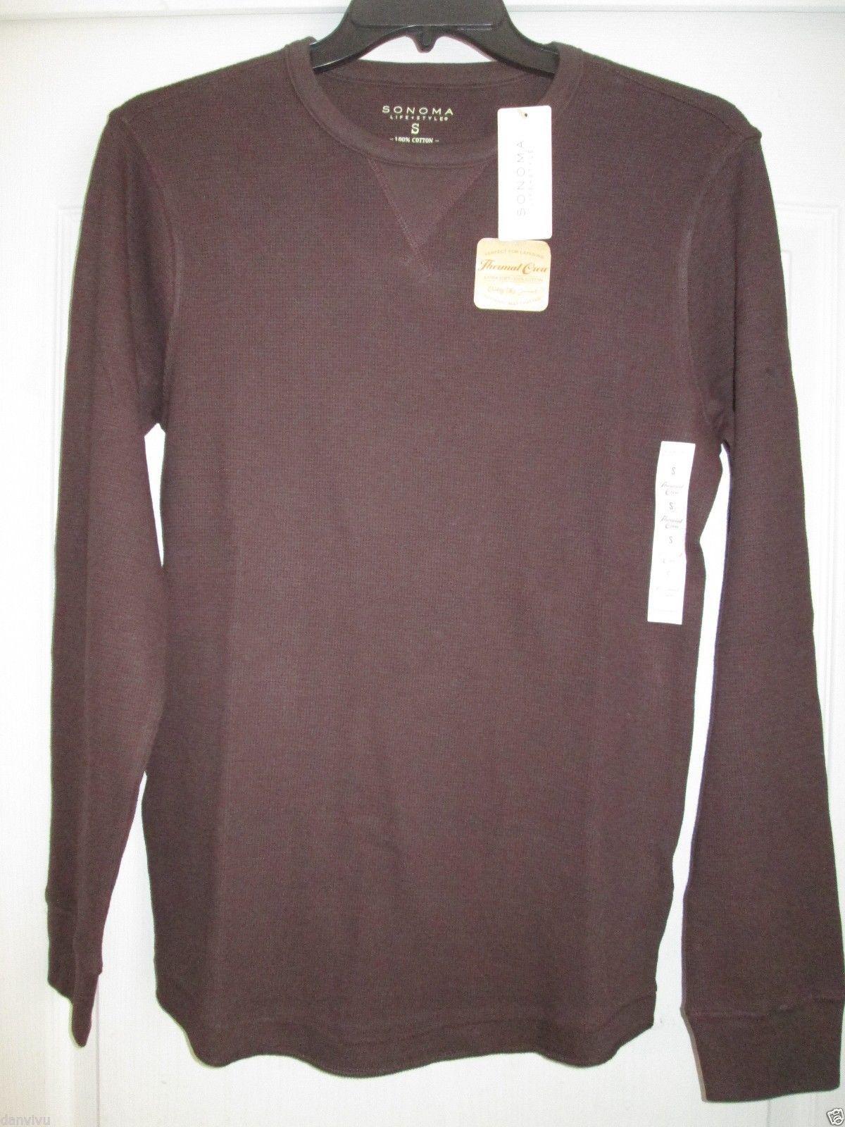 ed22361b0753 S l1600. S l1600. Previous. Sonoma Extra Soft Cotton LSLV Thermal Crewneck Men  T-Shirt Dark Brown ...