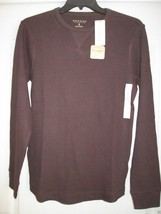 Sonoma Extra Soft Cotton LSLV Thermal Crewneck Men T-Shirt Dark Brown S MSRP $30 - $14.00