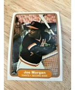 1982 Fleer #397 Joe Morgan NM-MT Giants   - $1.24