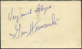 GENE HERMANSKI SIGNED 1948 GOV'T POSTCARD BROOKLYN DODGERS CHICAGO CUBS ... - $13.85