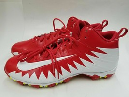 Nike Men's Alpha Menace Shark Football Cleats Size 11.5 878122-611 Red/W... - $33.25