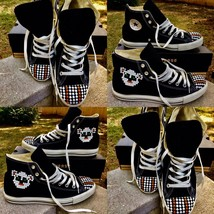 New Men's Custom Studded High Top Converse Chuck Taylor Sneakers Runners 10 - $105.00
