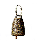 DRAGON BELL KEY CHAIN Ring Temple Feng Shui Charm Metal Good Luck Lucky - $5.95