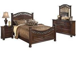 Ashley Leahlyn 4PC Bedroom Set Queen Panel - Brown - $1,930.19