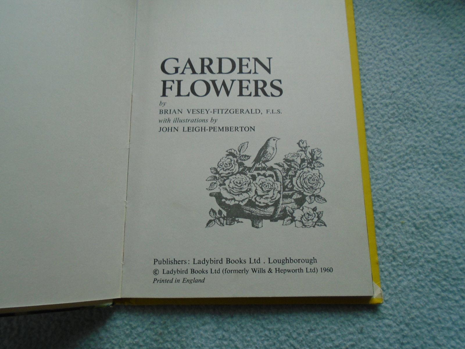 Vintage 1960  Lady Bird Book Garden Flowers Series 536