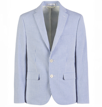 Ralph Lauren Ultraflex Blue and White Seersucker Suit Jacket, 44 Regular - $197.99