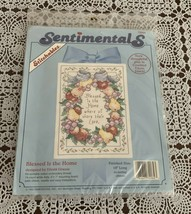 Brand New Sentimentals Counted Cross Stitch Kit 72064 Blessed Is The Home - $11.49