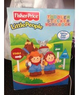 Fisher Price Little People Toddler Sticker Workbook Colors and Shapes Co... - $69.99