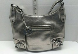 MICHAEL KORS Shiny Silver Corner Buckle Hobo Shoulder Hand Bag AV-1403 - $70.77
