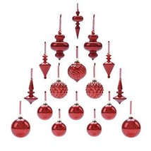 Winter Mouth Blown Glass Christmas Ornaments Pack of 17 MEDIUM Size (red) - $42.03