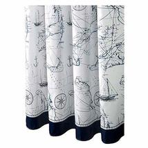 PANDA SUPERSTORE Waterproof Fashion Design Shower Curtain Blue Shower Curtains,