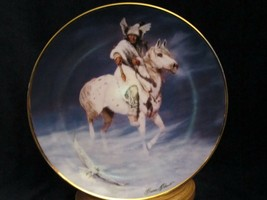 Spirit Of The Winter Hawk Collector Plate Hermon Adams Native Western Heritage - $9.99