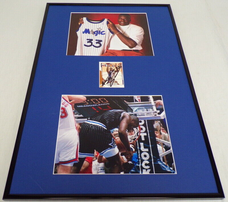 Primary image for Shaquille O'Neal Signed Framed 18x24 Photo Display Orlando Magic