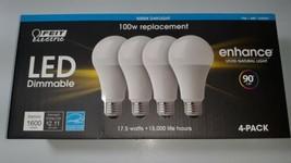 17.5 W / 100 Watt LED Dimmable Light Bulbs 4 pack 5000K Feit Electric - $23.95