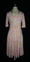 Gorgeous Nwt Lularoe Nicole Geometric Pastel Fit & Flare Dress Medium M 10 12 - $20.00