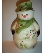 Fenton Glass Chickadee & Pine Snowman Fairy Light Lamp  LE GSE #4 of 24 ... - $309.43