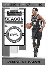 2019 Panini Contenders Basketball Card #25 DeMar DeRozen - $1.80
