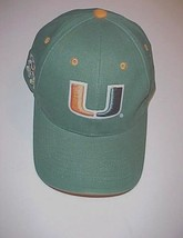 Miami Hurricanes Sebastian the Ibis NCAA ACC Green Orange Baseball Cap O... - $22.76