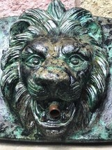 1 Antique Victorian Old Style Small Stone Lion Wall Fountain Mask Spout ... - $198.20