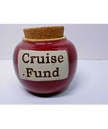Piggy Bank CRUISE FUND Tumbleweed Pottery North Carolina USA vtg new - $20.90
