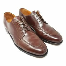 Cole Haan Mens Dress Oxfords Brown Split Toe Lace Up Leather 11.5 D - $28.99