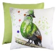 GREEN TURACO TROPICAL BIRD EVANS LICHFIELD MADE IN UK CREAM CUSHION COVE... - $15.41