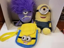RARE kids toys play soft plush bag pack Despicable Me Build A Bear minion LOT + - $28.72