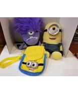 RARE kids toys play soft plush bag pack Despicable Me Build A Bear minio... - $28.72