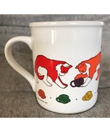 Vintage 1984 Current Coffee Mug Cup VGC Cat Playing with Yarn Rainbow Co... - $9.89