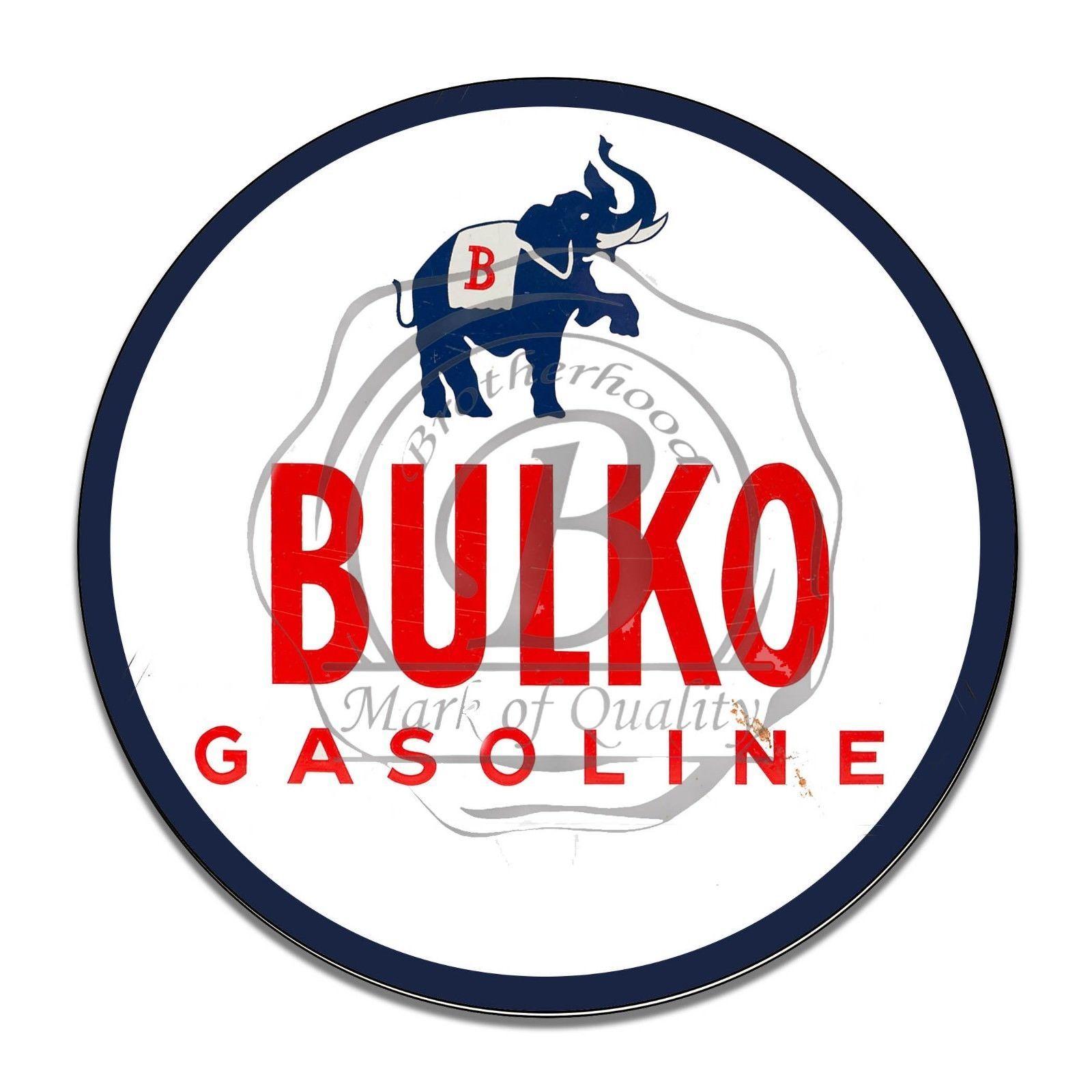 Regional Gas Distrbutor Bulko Gasoline Reproduction Circle Aluminum Sign - $16.09