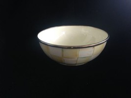 MacKenzie-Childs RETIRED Parchment Check Enamel Salad Cereal Bowl more p... - $34.65
