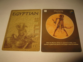 2003 Age of Mythology Board Game Piece: Egyptian Battle Card - Mummy - $1.00