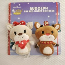 New Hallmark Itty Bittys Storybook Rudolph Red-Nosed Reindeer Book Plush... - $27.69