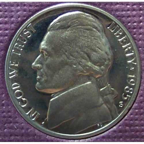 Primary image for 1985-S DCAM Proof Jefferson Nickel PF65 #0365