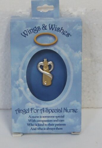 DM Merchandising Wings Wishes Gold Colored Nurse Angel Silver Colored Wings
