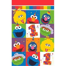 Elmo Turns One Plastic Tablecover 1st Birthday Party Sesame Street - £6.28 GBP